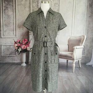 Ann Taylor Women's Dress Black White Size 10